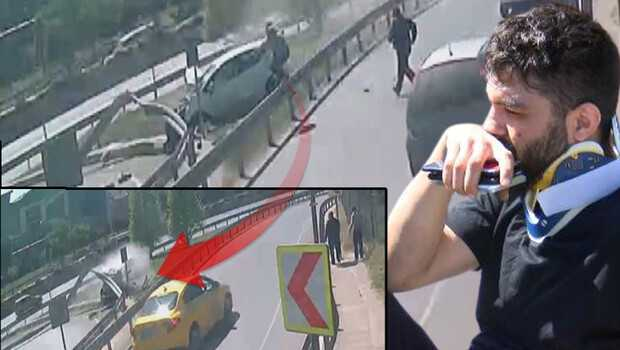 Bağcılar'da feci kaza saniye saniye görüntülendi, 2 kişi yaralandı! 'Araçtan sürünerek çıktılar'