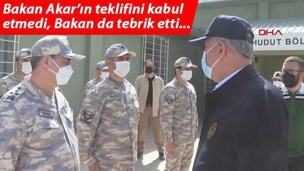 Son dakika… Milli Savunma Bakanı Akar ile astsubay arasında duygulandıran diyalog