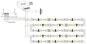 LPD6803 DC12V Series Flexible LED Strip Lights, Programmable Pixel Full Color Chasing, Indoor