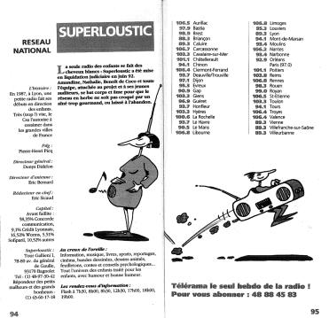 Guide Télérama de la radio - 1992
