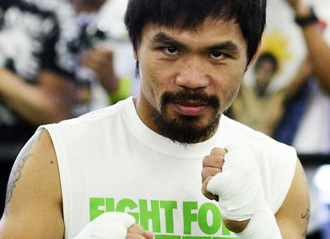 M. Pacquiao (foto) receberá uma bolada com patrocínios para luta. Foto: Divulgação