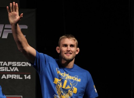 Sueco Alexander Gustafsson fará a luta principal do evento. Foto: Josh Hedges/UFC