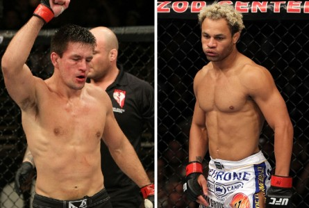 Luta entre D. Maia (esq.) e J. Koscheck (dir.) no Rio de Janeiro foi cancelada. Foto: Produção MMA Press (Divulgação/UFC)