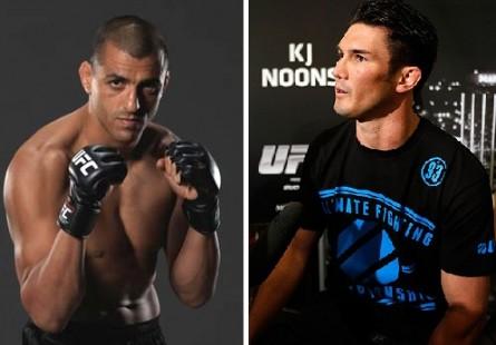 G. Sotiropoulos (esq.) e K.J. Noons (dir.) se enfrentam em outubro. Foto: Josh Hedges/UFC