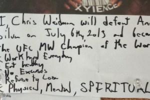 Foto: Como Weidman se mantém motivado para vencer Anderson