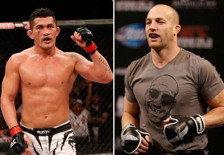 Bodão (esq.) enfrenta Cummins (dir.) em junho. Foto: Produção SUPER LUTAS (UFC/Divulgação)
