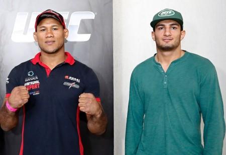 Luta entre Jacaré (esq.) e  Mousasi (dir.) acontece em setembro. Foto: Wander Roberto/UFC