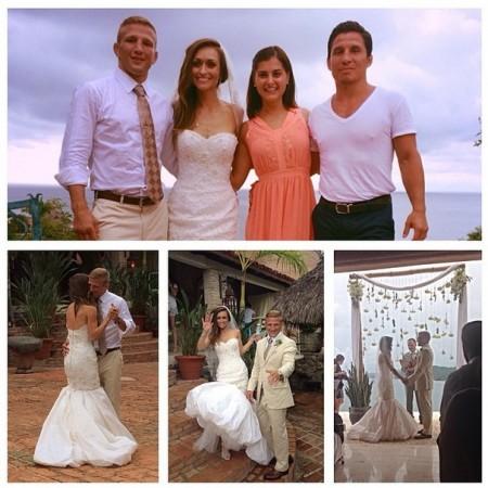 Montagem divulgada por Benavidez traz momentos do casamento de Dillashaw. Foto: Reprodução/Instagram