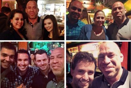 Wand é clicado com fãs em bar de Curitiba durante finais do TUF. Foto: Produção SUPER LUTAS (Reprodução/Instagram)