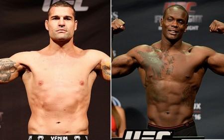 Tanto Shogun (esq.) quanto St. Preux (dir.) vêm de derrota no UFC. Foto: Produção SUPER LUTAS (Josh Hedges/UFC)