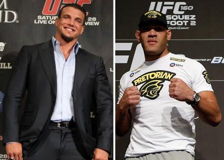 Juntos, F. Mir (esq.) e Pezão (dir.) somam sete lutas sem vencer. Foto: Produção SUPER LUTAS (Josh Hedges/UFC)