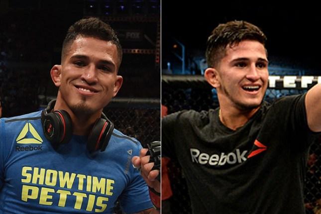 Anthony (esq.) e Sergio (dir.) venceram no UFC 181. Foto: Produção MMA Press (Divulgação/UFC)