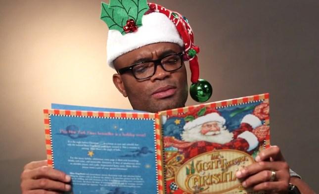 Anderson (foto) e outras estrelas do UFC fizeram leitura de poema clássico de Natal. Foto: Reprodução