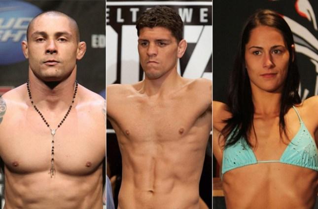 Silva, Diaz e Eye são três atletas envolvidos em polêmicas no passado. Foto: Produção MMA Press
