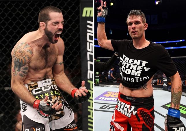 M. Brown (esq.) fará duelo de opostos com T. Means (dir.). Foto: Produção SUPER LUTAS (Josh Hedges/UFC)