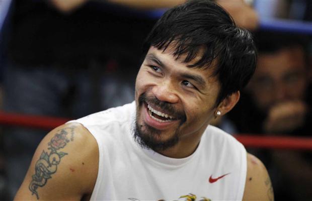 Pacquiao (foto) escondeu lesão no ombro da Comissão de Nevada. Foto: Divulgação
