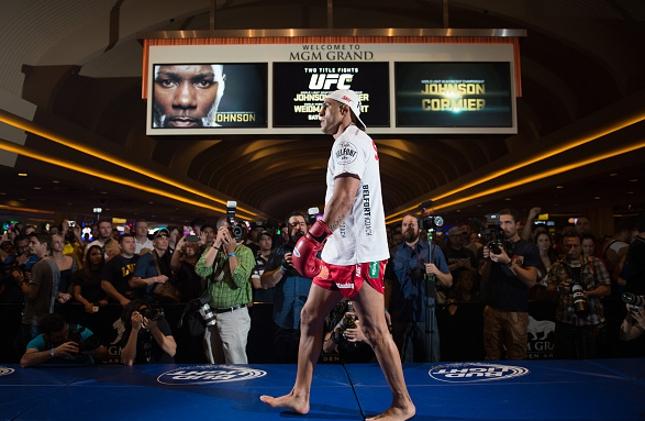 V. Belfort durante os treinos abertos do UFC 187. Foto: Brandan Marshall/UFC