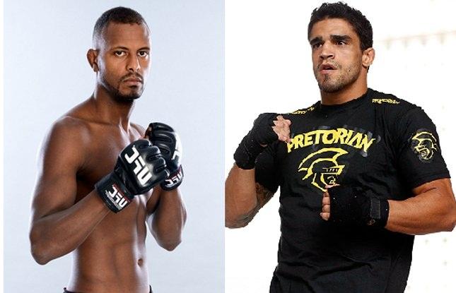 Kevin (esq.) e Thiago (dir.) estarão nas duas lutas que fecharam o card do UFC SP. Foto: Produção SUPER LUTAS (UFC/Divulgação)