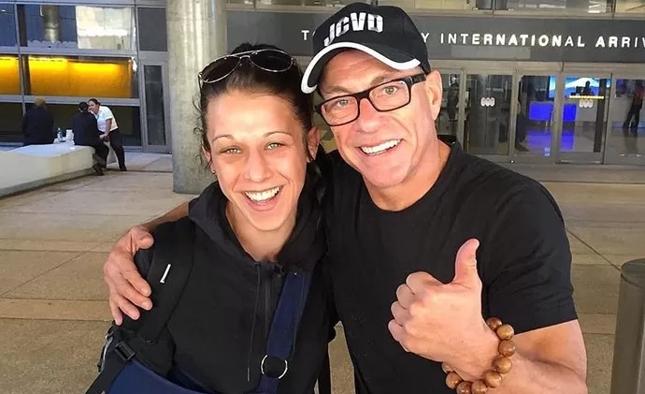Joana e JCVD, europeus podem treinar juntos para as próximas lutas da campeã. Foto: Reprodução