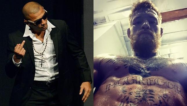 Aldo e McGregor foram às redes sociais se atacar. Foto: Produção SUPER LUTAS (Reprodução)