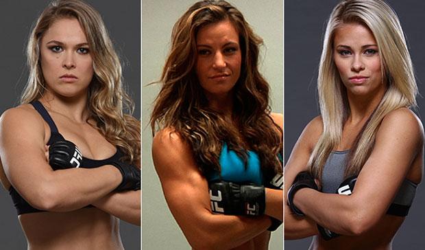 Miesha relatou polêmica de Paige e Ronda. Foto: Produção SUPER LUTAS
