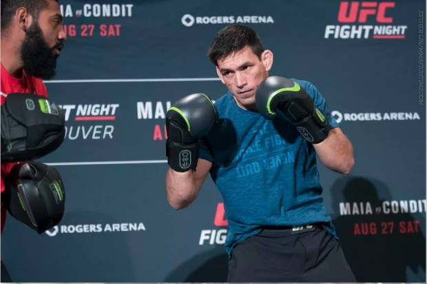 Demian (foto) em treino aberto do UFC on Fox 21. Ele encara C. Condit neste sábado (27). (Foto: MMA Fighting)