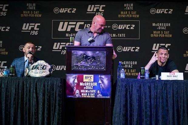 McGregor e Diaz se enfrentam no UFC 202. Foto: Divulgação/UFC
