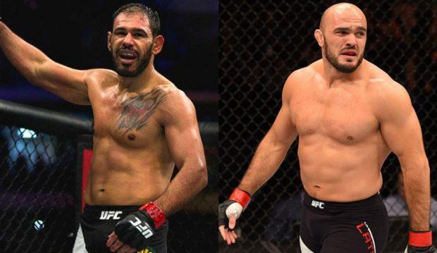 Minotouro (esq) e Latifi (dir) se enfrentam em junho (Fotos: UFC/Montagem: Super Lutas)