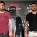 Nelson (esq) é favorito contra Santiago (dir)(Foto: Reprodução/Youtube UFC)