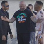 Ferguson (esq) e Lee (dir) voltaram a discutir (Foto: Reprodução/Youtube/UFC)