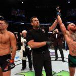 McGregor (dir) e Diaz (esq) se enfrentaram duas vezes (Foto:Reprodução/Facebook UFC)