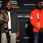 Cormier (esq) se desculpou com Johnson (dir) (Foto: Reprodução/Facebook UFC)