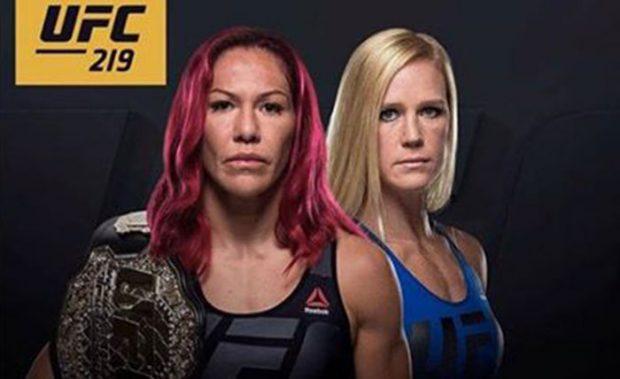 Cyborg defende cinturão contra Holm no UFC 219. Foto: Reprodução / Twitter UFC