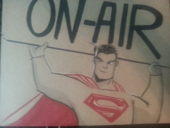 Justin Castaneda's Superman sign