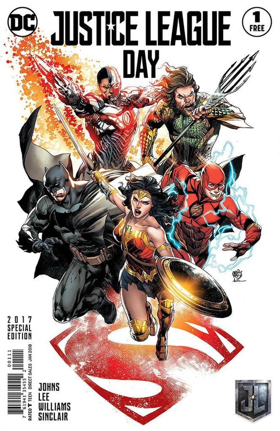 justice league day free comic book ile ilgili görsel sonucu