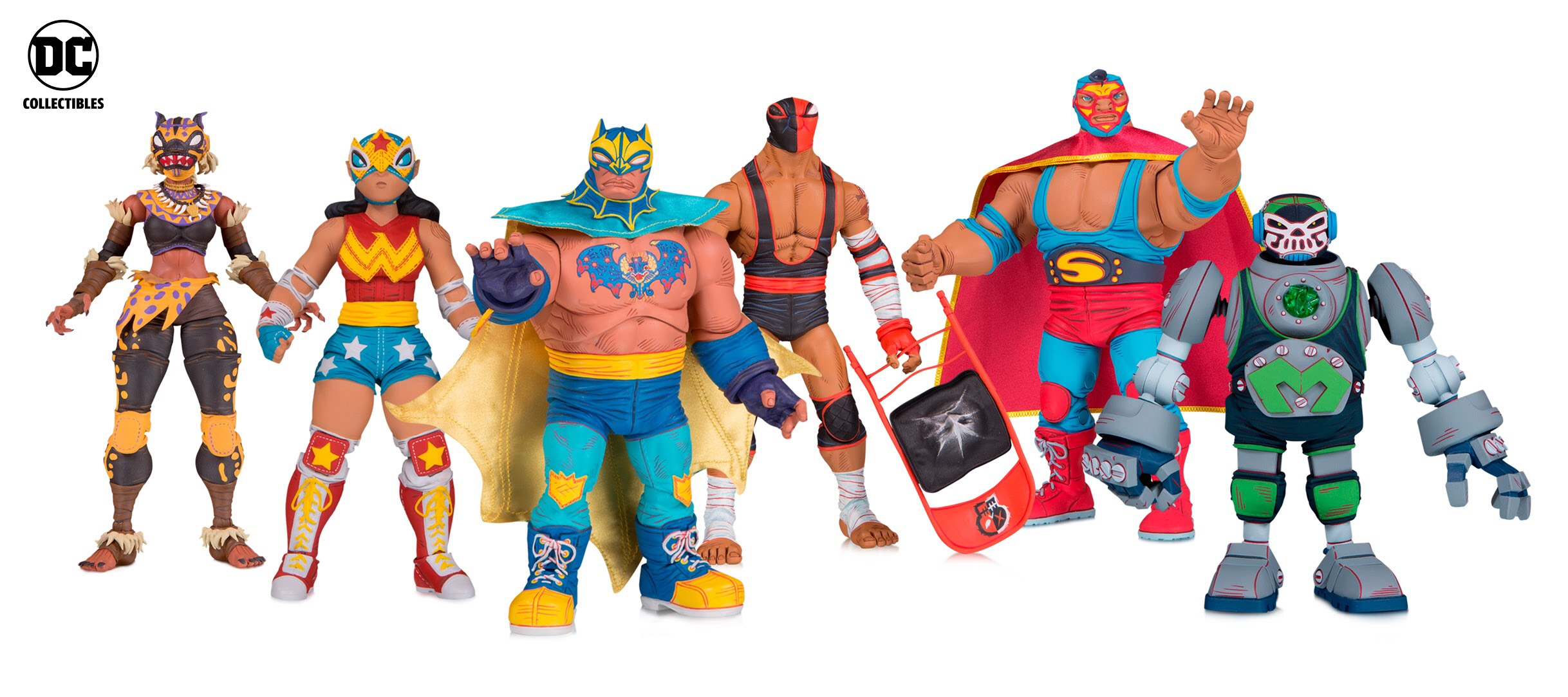 DC Collectibles Lucha Explosiva Action Figures