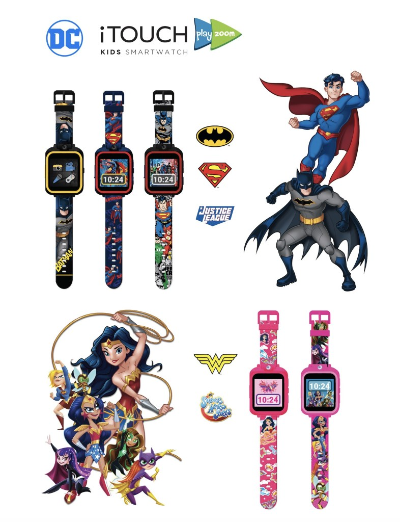 DC Comics iTOUCH PlayZoom Smart Watches