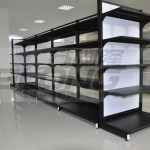 Professional Retail Double Sided Gondola Shelving Units