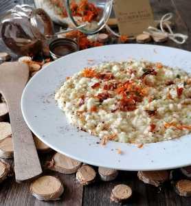 risotto con fiori di calendula ricetta