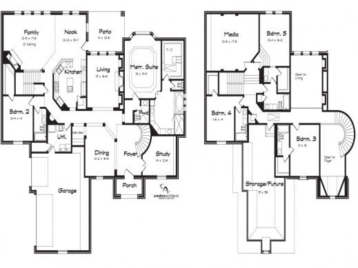 5 bedroom 2 story house plans | amazing house plans