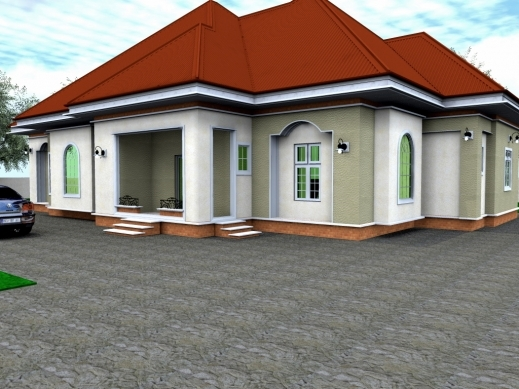 Fascinating 3 Bedroom House Plans And Designs In Nigeria Nigerian 4 Flat Bungalow
