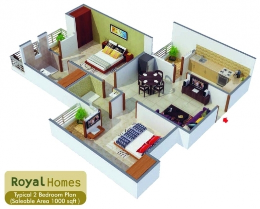 Superior ... House Plans 2 Bedroom. Home Design For 800 Sq Ft In India
