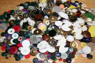 A pile of assorted buttons