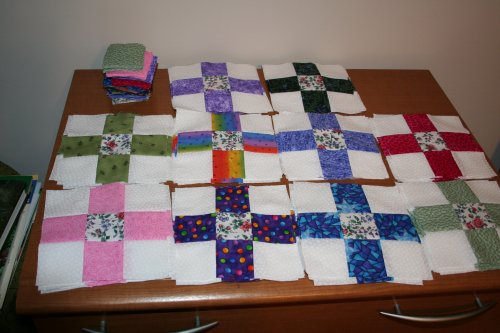 70 nine-patches finished