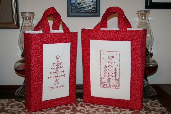 Redwork Gift Bags 1
