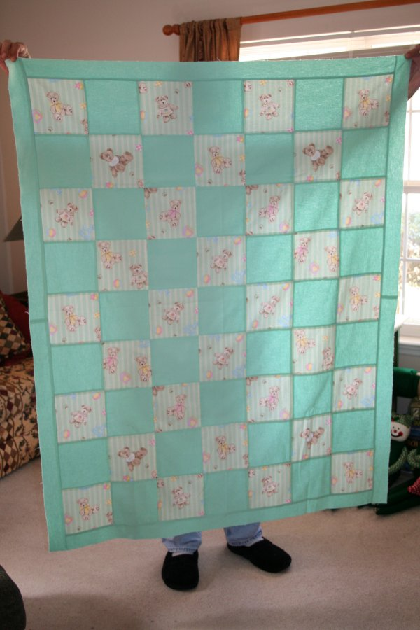 This quilt top has been waiting for three years to be quilted.