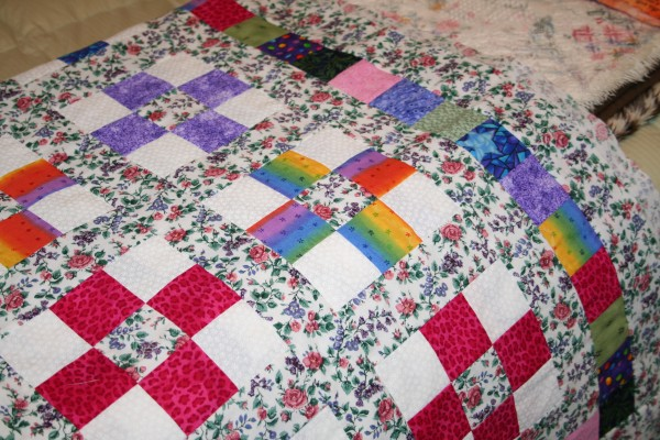 Scrappy Nine Patch Quilt top