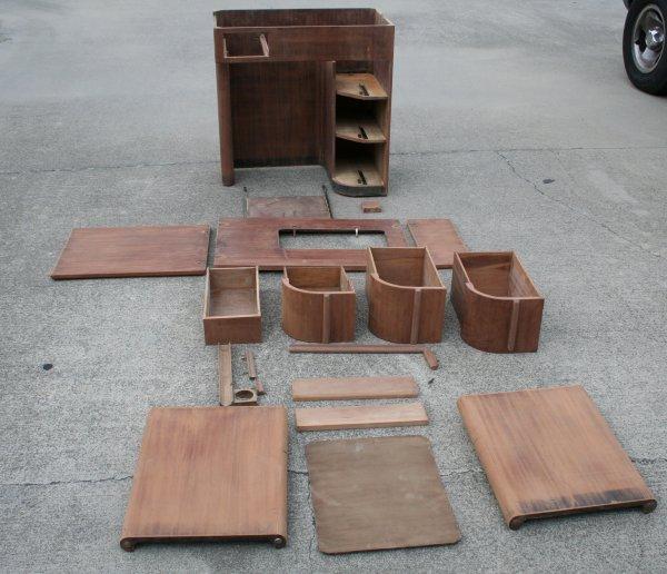Art Deco Cabinet sanded
