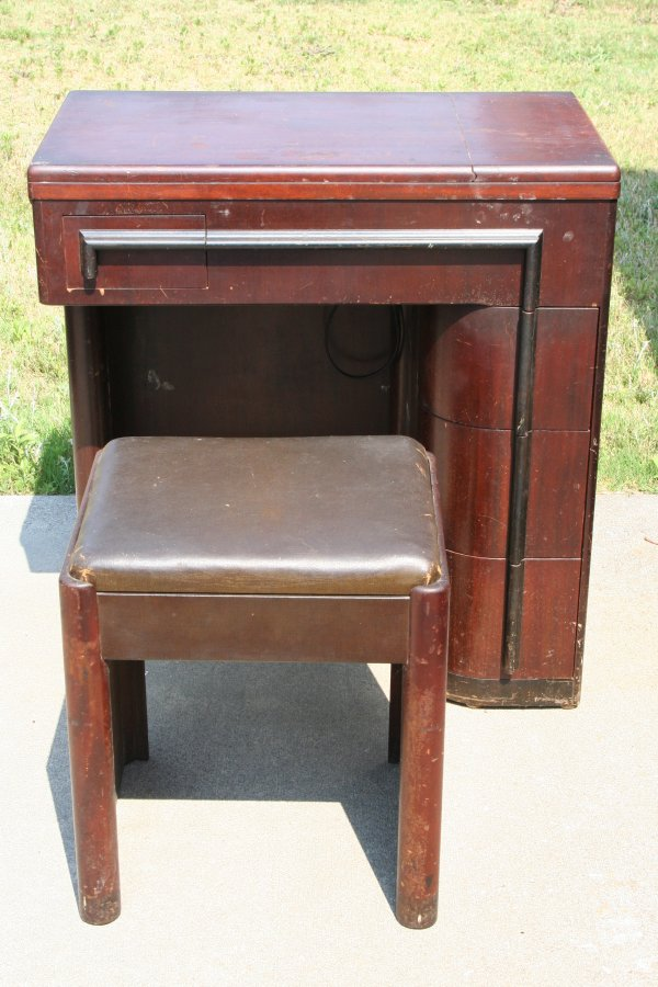 Art Deco Sewing machine Cabinet
