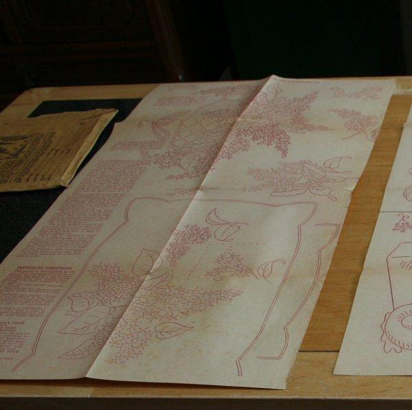 half sheet embroidery transfer